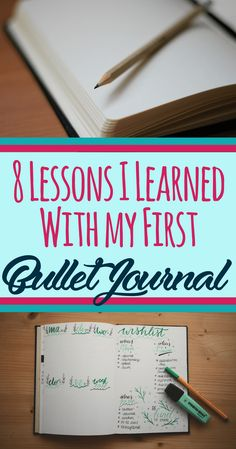 So, you're starting your very first bullet journal! It is an exciting time, but scary when you don't know what to expect or what's normal. I want to share the 8 lessons I learned from my first bullet journal to make your life easier. Get amazing tips, ins Bullet Journal Monthly Spread, Bullet Journal Tracker, Bullet Journal How To Start A, Bullet Journal Layout, Bullet Journal Inspiration, Bullet Journals, Bullet Journal Getting Started, Bullet Journal Tips, Thing 1