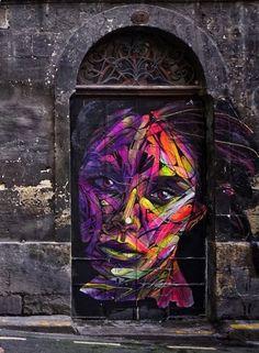 Share your graffiti and Street Art here. Street Art Banksy, 3d Street Art, Street Art Graffiti, Urban Street Art, Graffiti Murals, Amazing Street Art, Street Artists, Urban Art, Graffiti History