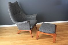 Vintage Mid-Century Chair and Ottoman by Adrian Pearsall. Photo: midcentury modern finds
