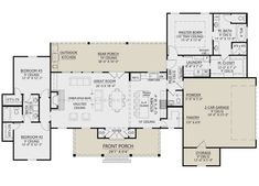 Rustic Kitchen Design, Outdoor Kitchen Design, Diy Kitchen, Best House Plans, House Floor Plans, Kitchen Floor Plans, Floor Plan Drawing, Modern Farmhouse Plans, Farmhouse Layout