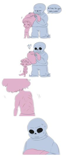 Sans and Frisk    THIS. OK, I NORMALLY DONT GET TOO AFFECTED BY COMICS BUT THIS. THIS HURT ME