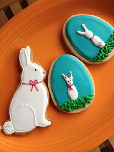 Bunny Rabbit and Egg Cookies  1 Dozen by hellobakery on Etsy, $26.00