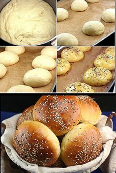 Possibly the Best Burger Buns Ever. Possibly the Best Burger Buns Ever. Best Burger Buns, The Best Burger, Homemade Burger Buns, Good Burger, Best Burger Recipe Ever, Bread And Pastries, Think Food, Love Food, Bread Recipes