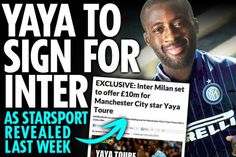 Kooxda Inter Milan Oo U Han-qal Taagaysa Helitaanka Yaya Toure