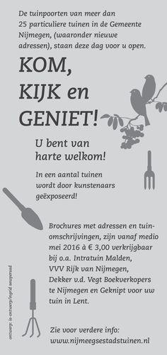 En de achterzijde vd flyer, van de Open Dag Nijmeegse Stadstuinen 2016!