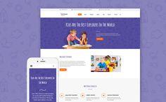 #Intense Kinderbetreuung ist ein wunderschön gestaltetes #Website Template für Kindertagesstätte