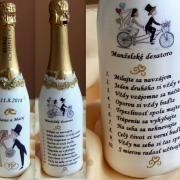 Pre mladomanželov.... Vodka Bottle, Decoupage, Wine, Retro, Drinks, Bottles, Google, Drinking, Beverages