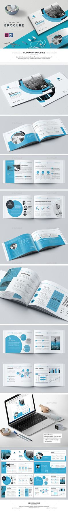 Co Landscape Brochure 16 Pages - Corporate #Brochures Download here: https://graphicriver.net/item/co-landscape-brochure-16-pages/19968179?ref=alena994
