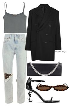 """#1295"" by dayal-may ❤ liked on Polyvore featuring RE/DONE, Balenciaga, Vetements and Yves Saint Laurent"