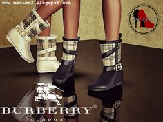 Burberry 2014 Spring/Summer Rain Boots by MrAntonieddu The Sims, Sims Cc, Burberry 2014, Burberry Shoes, Summer Rain, Spring Summer, Sims 3 Shoes, Sims 4 Children, Sims 4 Mods