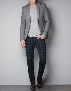 PIQUE BLAZER WITH ELBOW PATCHES, and I LOVE the pants! #zara
