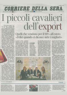 """VILLARI in the newspaper """"Corriere della sera"""" in april 2013"""