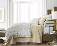 Found it at Wayfair - Peacock Alley Charleston Duvet Collection Luxury Duvet Covers, Luxury Bedding, Contemporary Bed Sheets, Luxury Sheets, How To Dress A Bed, Master Bedroom Makeover, King Duvet, Queen, Bedroom Bed
