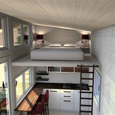 35 incredible Tiny House Interior Design Ideas The concept of a house may seem intimidating to some, but cob houses are far more than a little clay hut. Tiny house kits or shells can supply a great foundation and save you a significant sum of Home Design, Tiny House Design, Home Interior Design, Tiny House Loft, Best Tiny House, Tiny House Plans, Modern Tiny House, Casas Containers, Storage Containers