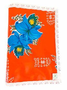 Klazien Oranje Luiermapje met blauwe bloemen