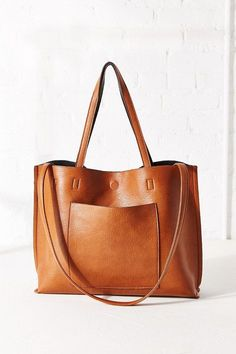 REVERSIBLE VEGAN LEATHER TOTE BAG  Urban Outfitters, fashion, clothing, clothes, style