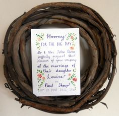 A charming hand drawn invite.