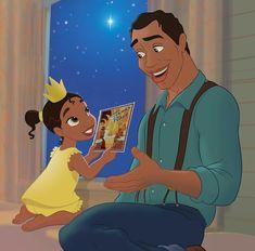 Dad's Day by Princess The Princess and the Frog Walt Disney, Disney Princess Tiana, Disney Family, Disney Films, Disney Magic, Disney Art, Disney Pixar, Princess Merida, Tangled Princess
