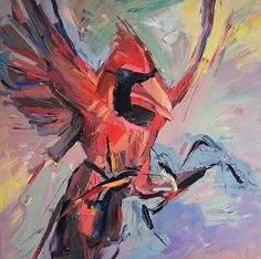 Cardinal I 2013 oil on canvas 32 x 32 in = 80 x 80 cm