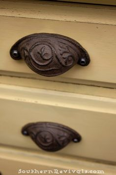 Antique looking drawer pulls