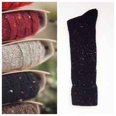 HP 11/8. Confetti Thigh Highs Speckled Thigh Highs  Black w/multi color specks  Ribbed  Brand New!!   Trades Accessories Hosiery & Socks