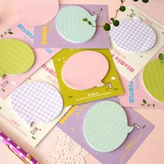 Pastel Speech Bubble Sticky Note • Mochi Things • $3.95                                                                                                                                                      More