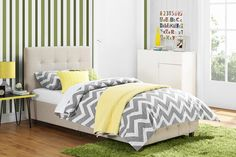 DHP Rose Upholstered Panel Bed & Reviews | Wayfair