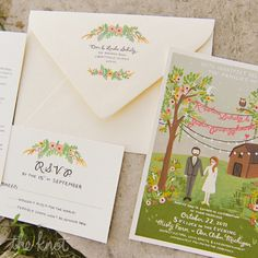 Whimsical & colorful wedding invitations | A Girl In Love | Rifle Paper Co.