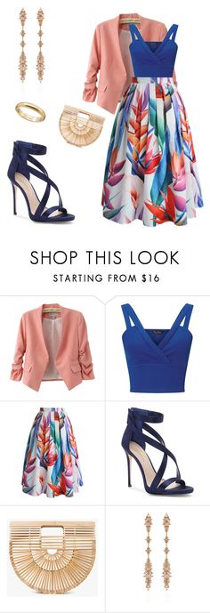 Pink 'n blue by laura-paasivirta on Polyvore featuring Miss Selfridge, Chicwish, Imagine by Vince Camuto, Cult Gaia and Fernando Jorge