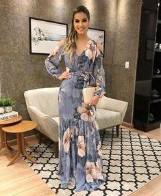 Maxi vestidos 2019 estampados Casual Dress Outfits, Chic Outfits, Fashion Outfits, Pretty Dresses, Beautiful Dresses, Latest African Fashion Dresses, Classy Dress, African Dress, Designer Dresses