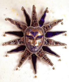 Mascara veneciana. Sole gliter velluto welvet grande - Decorar con Arte