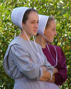 Young Amish ladies at the Quilt Auction in Bonduel, Wisconsin~ Sarah's Country Kitchen ~
