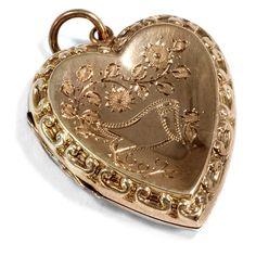 Antiker schmuck  Vergiss-mein-nicht - Antiker Gold-Anhänger mit Türkisen und Perlen ...