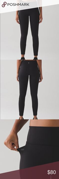 Lululemon fit physique tight Excellent condition. Worn few times. Sold out online! Sweat wicking Full on luon with mesh panels and side pockets. lululemon athletica Pants Leggings