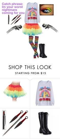 """Nightmare raibow"" by ulayler-rulez on Polyvore featuring Dyne"