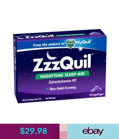 Sleeping Aids Zzzquil Nighttime Sleep-Aid - 72 Liquicaps From The Makers Of Vicks Nyquil #ebay #Fashion