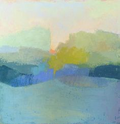 Judy Marlowe Stead, 'Land Escape 2', Oil and Wax on Canvas, 24x24 - Anne Irwin Fine Art