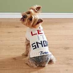 Let It Snow Pet Sweater - A warm and stylish dog sweater is a must-have for snowy winter walks! Choose from pink or blue.