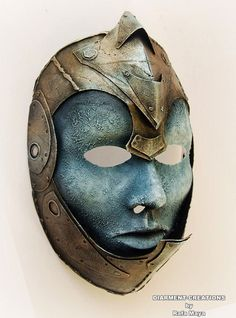 Super cool mask! Warrior Sorceress Mask by diarmentcreations on Etsy, $60.00
