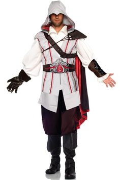 There are some great Assassin's Creed costumes available for your next Cosplay, a convention, or for Halloween. They have a wide variety of price points from the decently cheap Assassins Creed costume jacket, to the more expensive but highly. Costumes Sexy Halloween, Halloween Fancy Dress, Adult Costumes, Cosplay Costumes, Halloween Ideas, Adult Halloween, Game Costumes, Halloween 2013, Halloween Cosplay