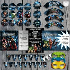 Avengers Birthday Party Package Deluxe Printable Kit
