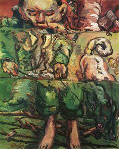 """Georg Baselitz 'Kullervos Füsse' 1967 Oil on canvas 162 x 130 cm 64 x 51"""""""