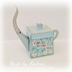 Adorable tea pot gift box by Andrea - Sweet Shoppe Gallery