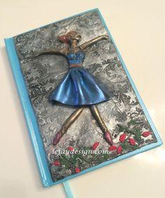 The Dancer Polymer Clay Notiz/Tagebuch Unikat von leFayDesign