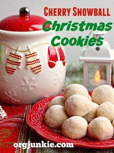 Cherry Snowball Christmas Cookies recipe