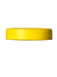 53-400 Yellow PP Smooth Lid w/ PS Liner : Smooth Lids