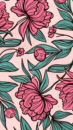 Pink vintage floral pattern wallpapers in 2019 милые обои, обои для iphone, Aesthetic Iphone Wallpaper, Flower Wallpaper, Screen Wallpaper, Aesthetic Wallpapers, Wallpaper Backgrounds, Phone Backgrounds, Wallpaper Quotes, Floral Pattern Wallpaper, Pattern Floral