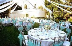 a Tiffany blue wedding in the spring :)