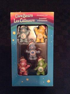 2005 Set Of 5 American Greeting NIB Care Bears Christmas Tree Ornaments