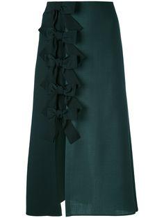 Fendi falda midi con lazos y abertura lateral